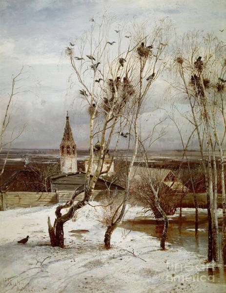 Tretyakov Gallery Painting - The Rooks Are Back by Alexei  Savrassov