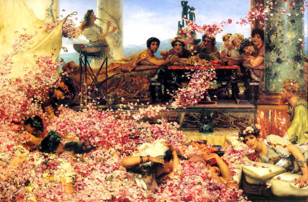 Painting - The Roses Of Heliogabalus 1888  by Sir Lawrence Alma Tadema