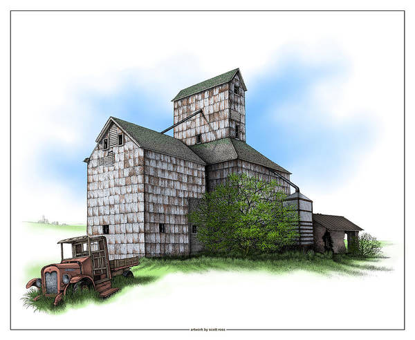 The Ross Elevator Summer Art Print