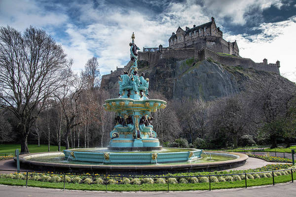 Photograph - The Ross Fountain And Edinburgh Castle by Ross G Strachan