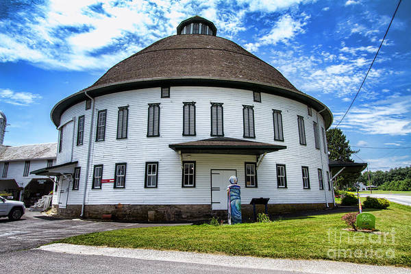 Photograph - The Round Barn by Photography by Laura Lee