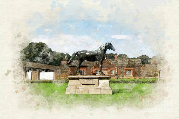 Kings Lynn Wall Art - Painting - The Royal Stud, Sandringham  by John Edwards