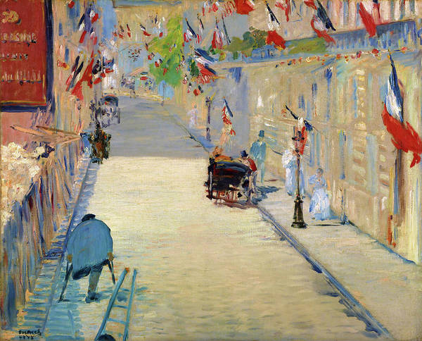Manet Wall Art - Painting - The Rue Mosnier With Flags - Digital Remastered Edition by Edouard Manet