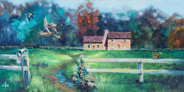 Painting - The Rural Route by David Bader