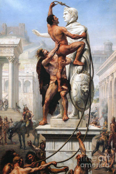 Wall Art - Painting - The Sack Of Rome By Visigoths In 410 by Joseph-Noel Sylvestre