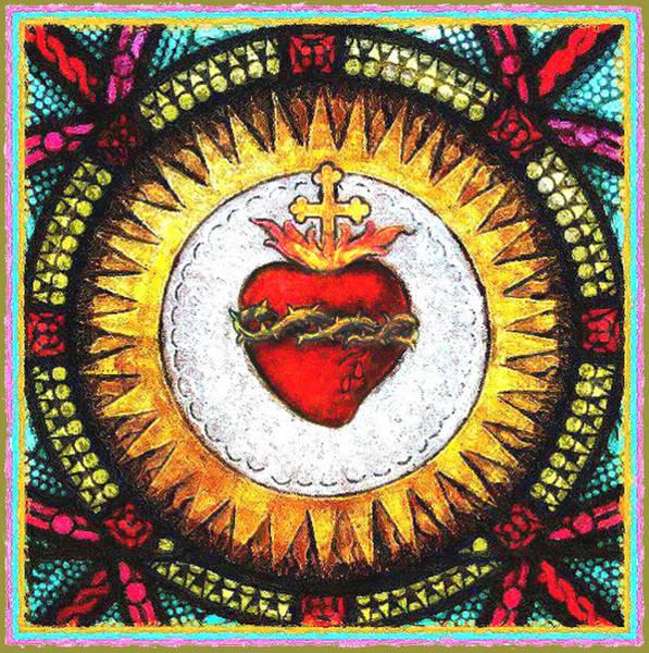 Sacred Heart Church Mixed Media - The Sacred Heart by Jas Stem