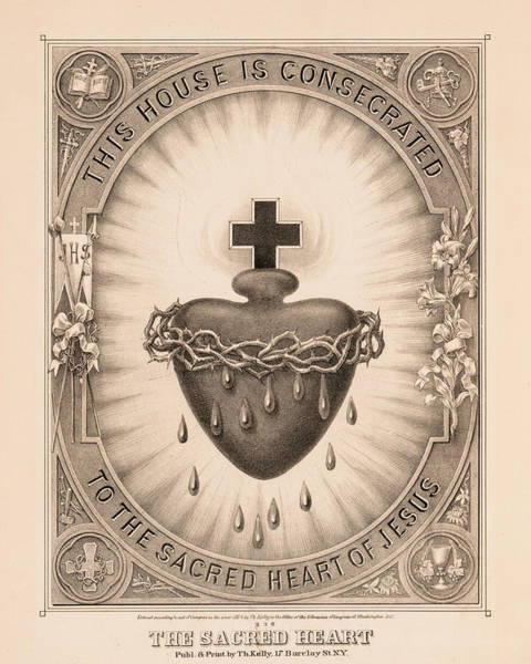 Wall Art - Painting - The Sacred Heart by Thomas Kelly