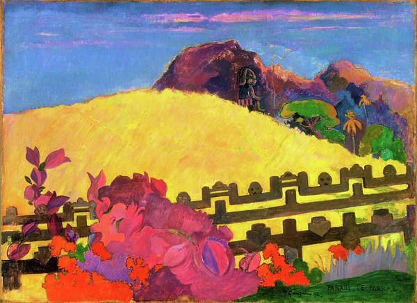 Wall Art - Painting - The Sacred Mountain - Digital Remastered Edition by Paul Gauguin