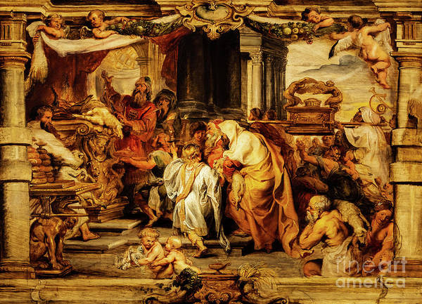 Painting - The Sacrifice Of The Old Covenant by Peter Paul Rubens