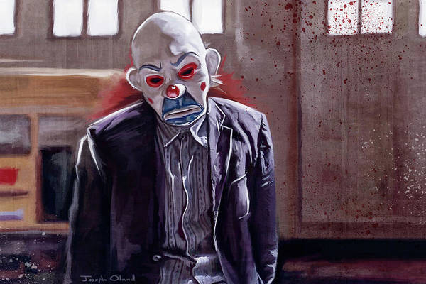 Harley Quinn Wall Art - Painting - The Sad Clown Of Gotham - The Dark Knight by Joseph Oland