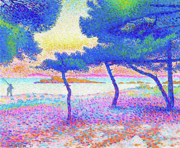 Wall Art - Painting - The Saint Clair Beach - Digital Remastered Edition by Henri Edmond Cross