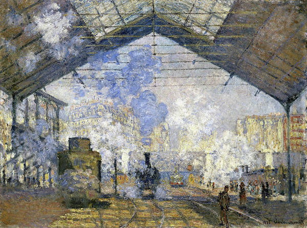 Lazare Painting - The Saint-lazare Station - Digital Remastered Edition by Claude Monet