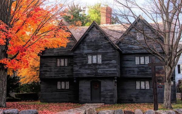 Photograph - The Salem Witch House by Jeff Folger