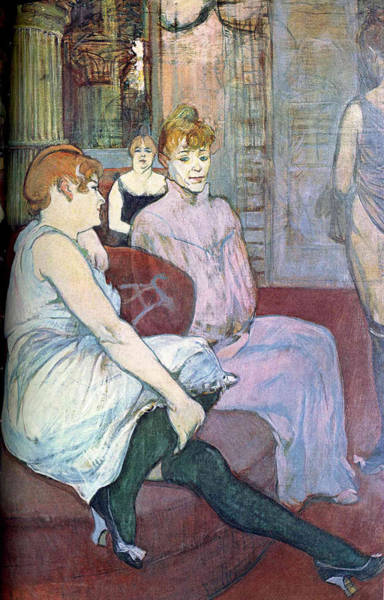 Wall Art - Painting - The Salon In The Rue Des Moulins - 1894 - Musee D Orsay - Albi - Painting - Oil On Canvas 4 by Henri de Toulouse-Lautrec