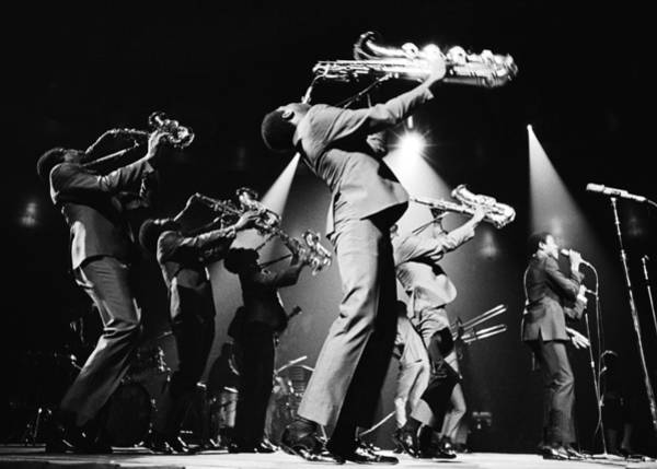 Photograph - The Sam & Dave Horn Section On Stage by Jack Robinson