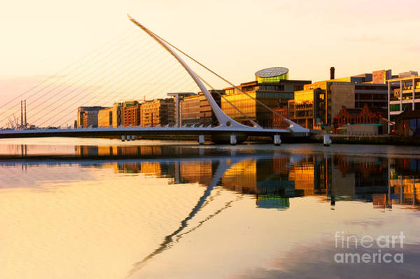 Wall Art - Photograph - The Samuel Beckett Bridge On The River by Rainprel