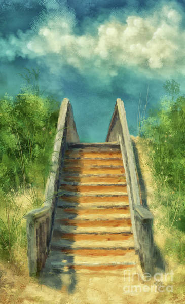 Wall Art - Digital Art - The Sandy Steps Over The Dunes by Lois Bryan