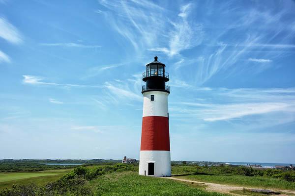 Wall Art - Photograph - The Sankaty Head Light On Nantucket Island by Brendan Reals