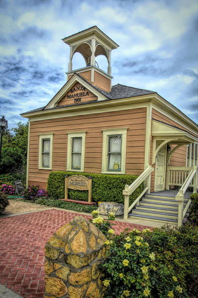 Photograph - The Santa Manuela Schoolhouse by Floyd Snyder