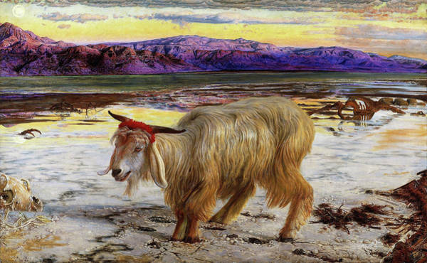 Wall Art - Painting - The Scapegoat - Digital Remastered Edition by William Holman Hunt