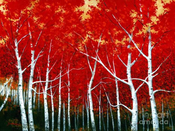 Wall Art - Painting - The Scarlet Birch by Michael Swanson