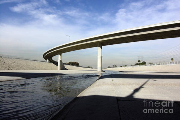 Wall Art - Photograph - The Scenic Los Angeles As It Flow Under by Trekandshoot