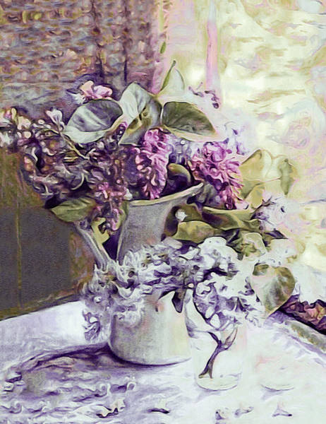 Mixed Media - The Scent Of Lilacs by Susan Maxwell Schmidt