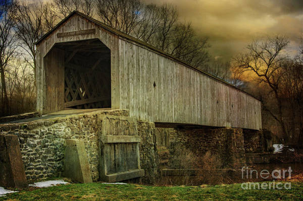 Photograph - The Schofield Ford Covered Bridge by Debra Fedchin