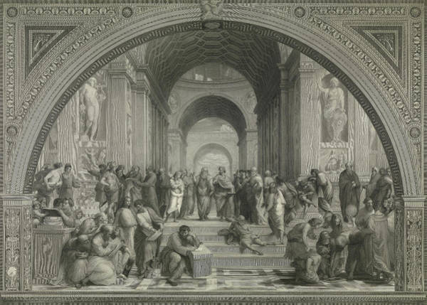 Wall Art - Painting - The School Of Athens, 1511 by Raphael