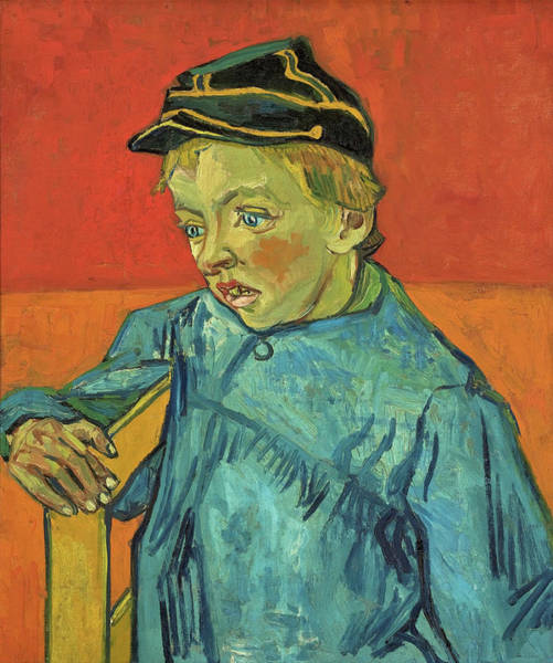 Wall Art - Painting - The Schoolboy, Camille Roulin - Digital Remastered Edition by Vincent van Gogh