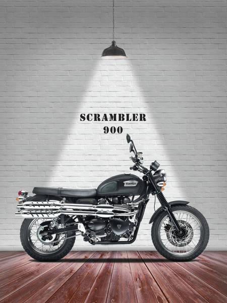 Triumph Photograph - The Scrambler 900 by Mark Rogan