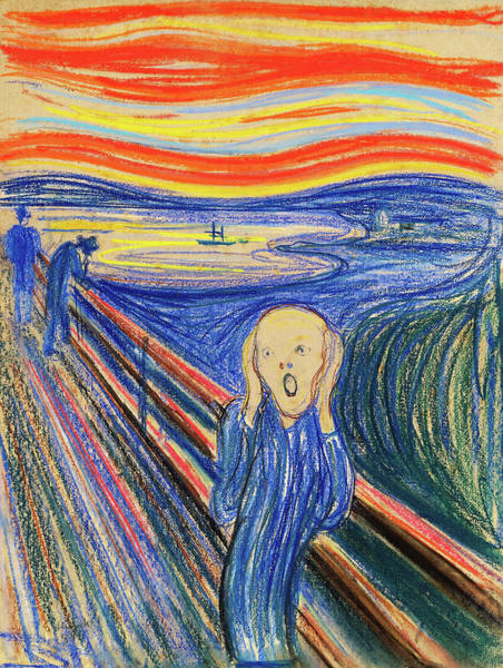 Wall Art - Painting - The Scream 1895 - Digital Remastered Edition by Edvard Munch