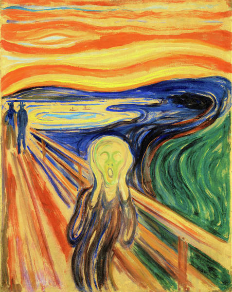 Wall Art - Painting - The Scream 1910 - Digital Remastered Edition by Edvard Munch