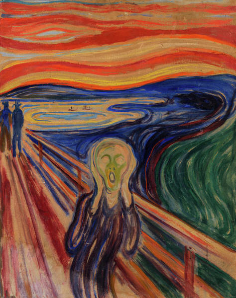 Wall Art - Painting - The Scream, 1910 by Edvard Munch