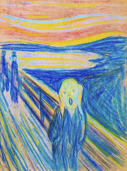 Wall Art - Painting - The Scream 1893 - Digital Remastered Edition by Edvard Munch