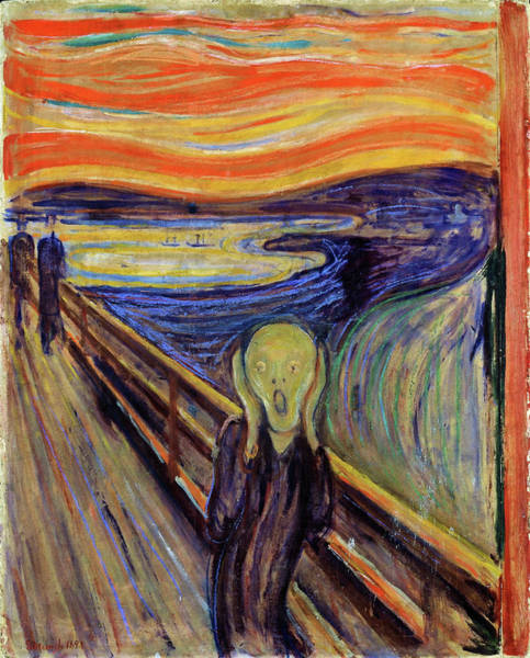 Wall Art - Painting - The Scream 1893 - Digital Remastered Edition2 by Edvard Munch