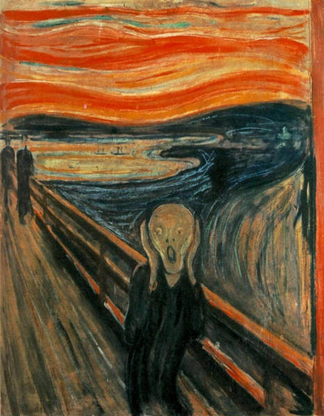 Scream Painting - The Scream  by Edward Munch
