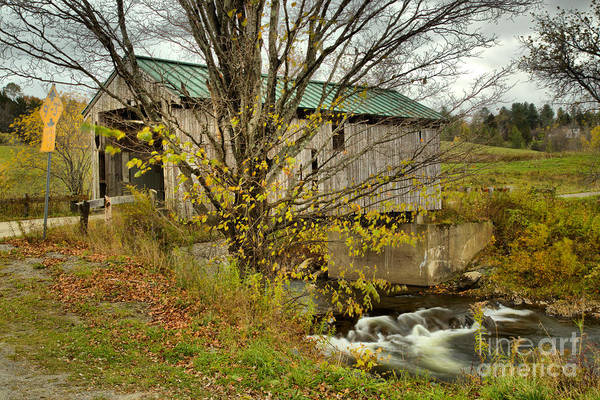 Photograph - The Scribner Covered Bridge by Adam Jewell