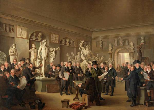 Wall Art - Painting - The Sculpture Gallery Of The Felix Meritis Society, 1795 by Adriaan de Lelie