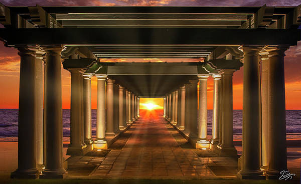 Digital Art - The Sea Colonnade by Endre Balogh