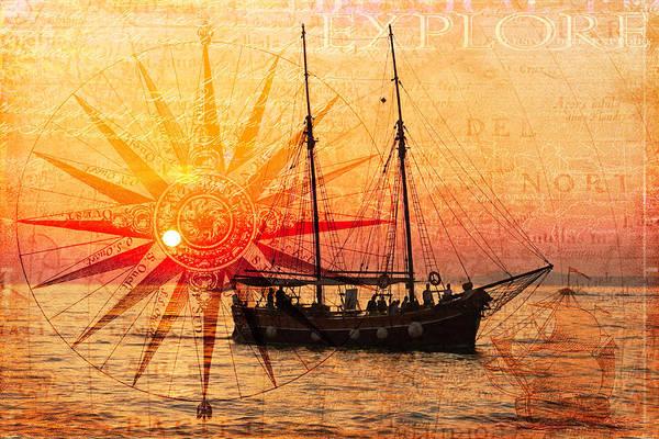 Wall Art - Digital Art - The Sea Is Calling Ocean Art by Debra and Dave Vanderlaan