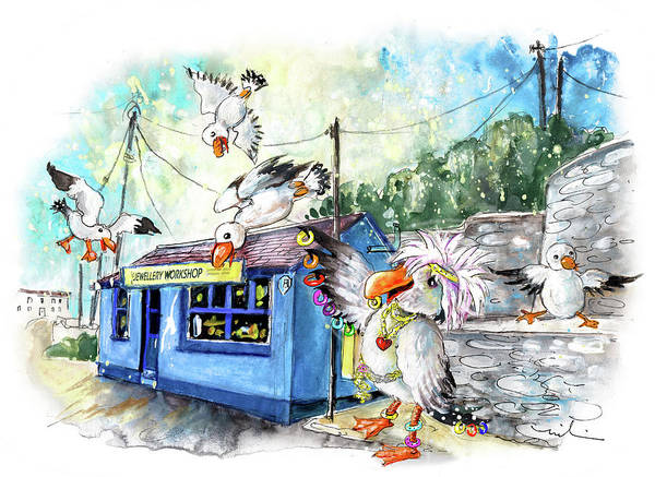 Painting - The Seagulls Of Porthleven 04 by Miki De Goodaboom