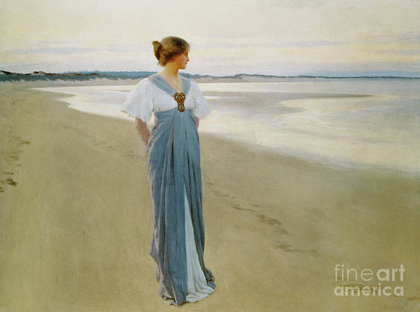 Wall Art - Painting - The Seashore, 1900 by William Henry Margetson