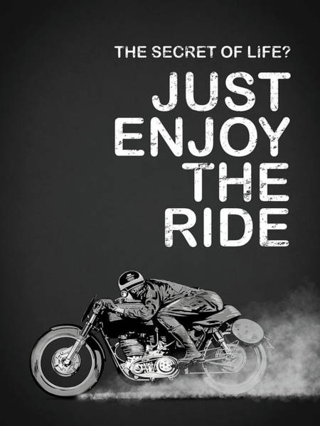 Motorcycle Photograph - The Secret Of Life by Mark Rogan