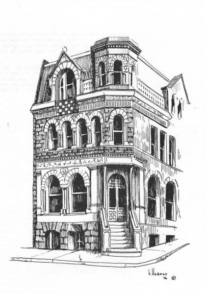 Drawing - The Securities Building Helena Montana by Kevin Heaney