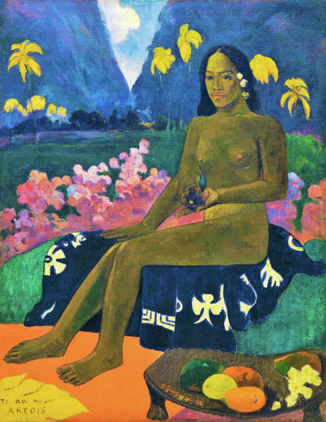 Wall Art - Painting - The Seed Of The Areoi - Digital Remastered Edition by Paul Gauguin