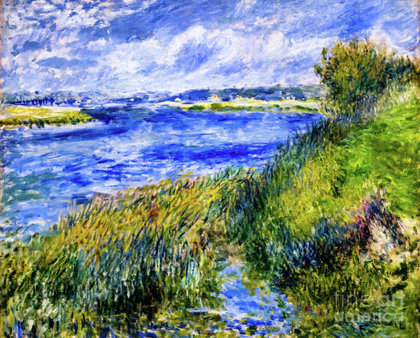 Painting - The Seine At Champrosay by Auguste Renoir
