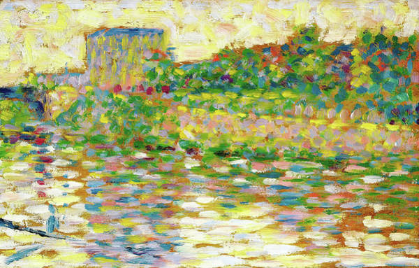 Wall Art - Painting - The Seine At Courbevoie - Digital Remastered Edition by Georges Seurat