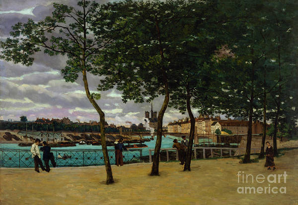 Wall Art - Painting - The Seine At Paris, 1871 by Jean Baptiste Armand Guillaumin