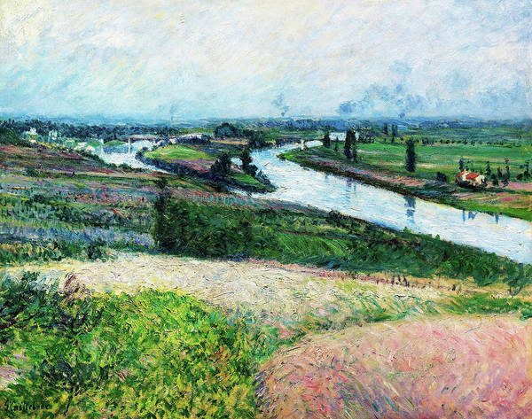 Wall Art - Painting - The Seine At The Pointe D'epinay - Digital Remastered Edition by Gustave Caillebotte